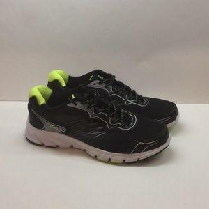 Men's Fila Indus Tennis Shoes 10 Black & Green NWT